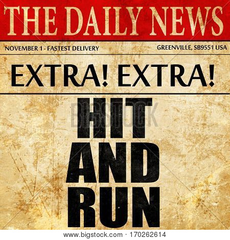 hit and run, newspaper article text