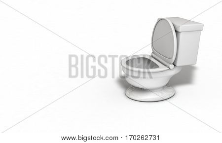 Water closet right view background 3d render