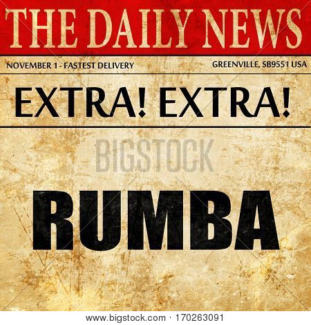 rumba dance, newspaper article text