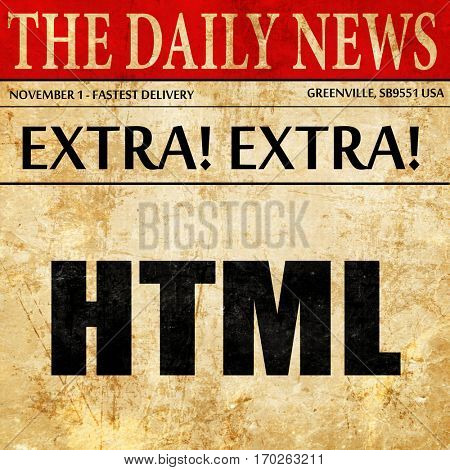 html, newspaper article text
