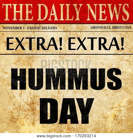 hummus day, newspaper article text