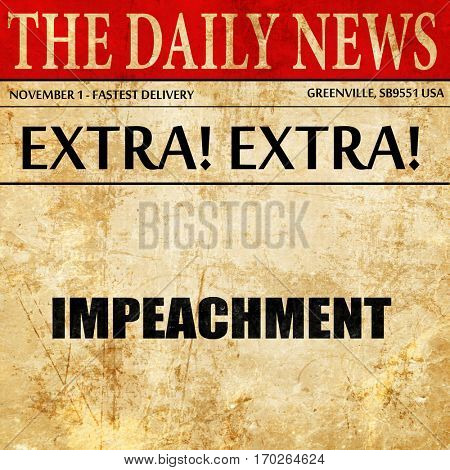 impeachment, newspaper article text