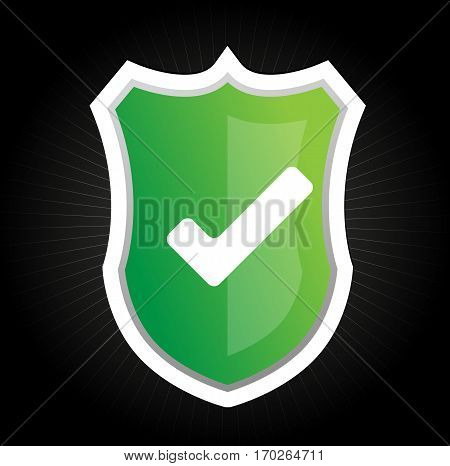 Security system protection shield concept - system safe data lock password vector stock