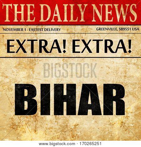 bihar, newspaper article text