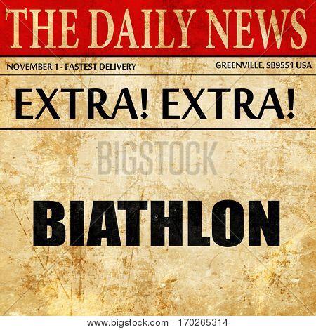 biathlon, newspaper article text
