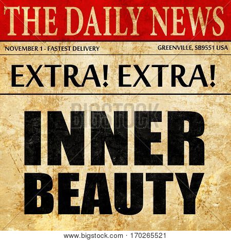 inner beauty, newspaper article text