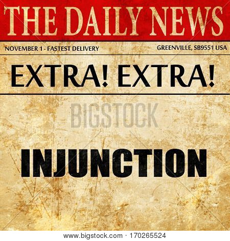 injunction, newspaper article text