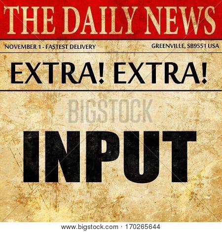 input, newspaper article text