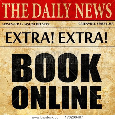 book online, newspaper article text