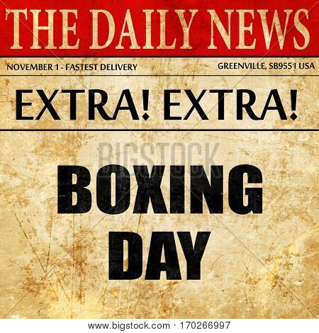 boxing day, newspaper article text