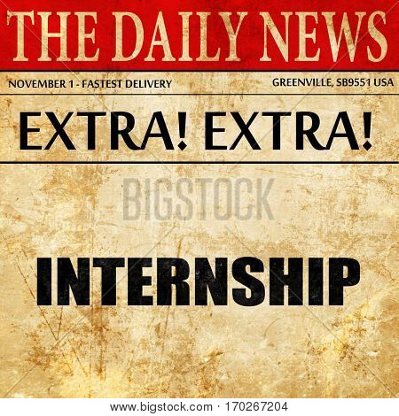 internship, newspaper article text