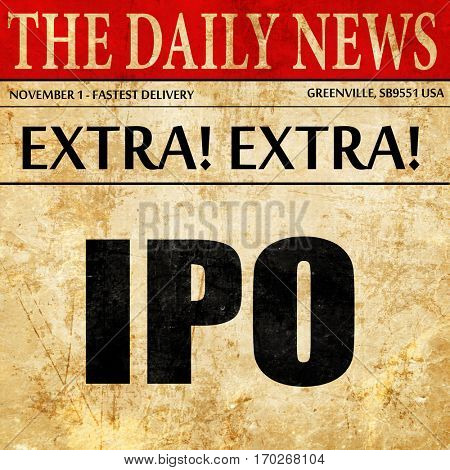 ipo, newspaper article text
