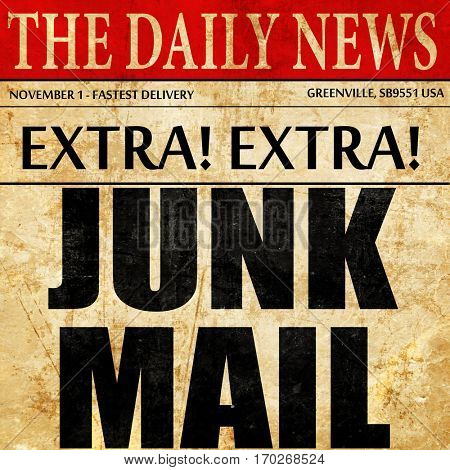 junk mail, newspaper article text