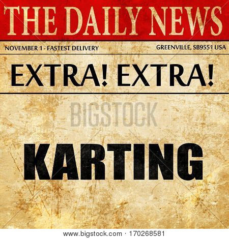 karting, newspaper article text