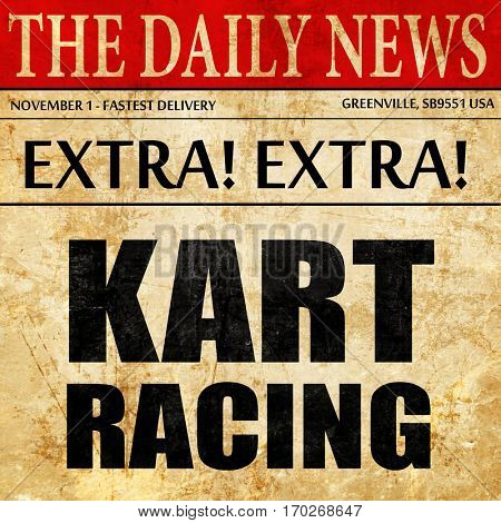 kart racing, newspaper article text