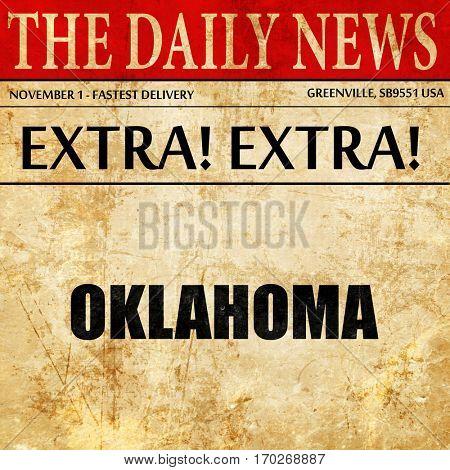oklahoma, newspaper article text