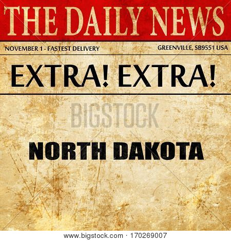 north dakota, newspaper article text