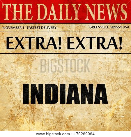 indiana, newspaper article text