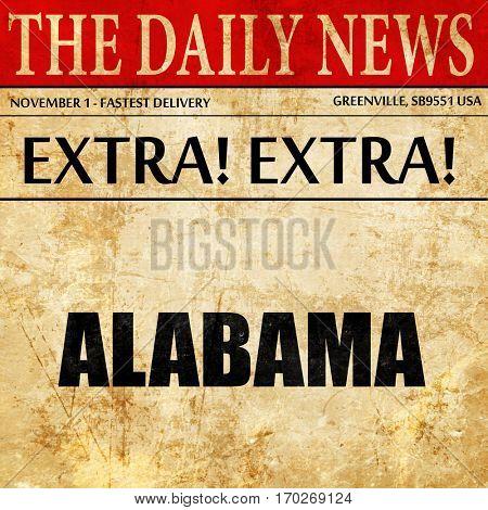 alabama, newspaper article text