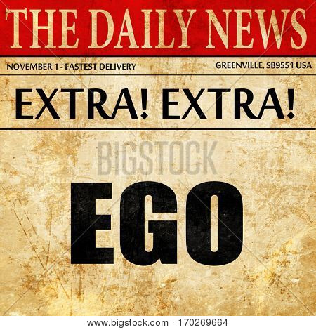 ego, newspaper article text