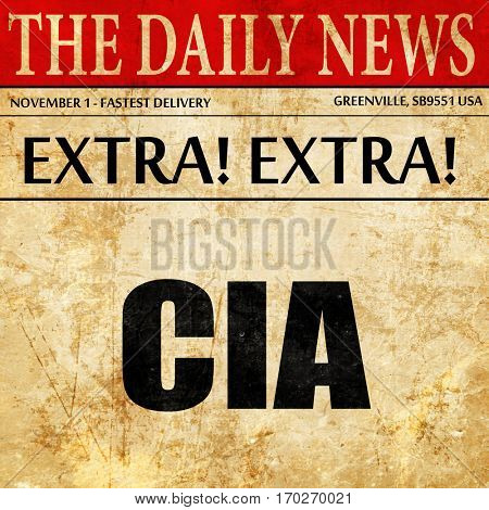 cia, newspaper article text