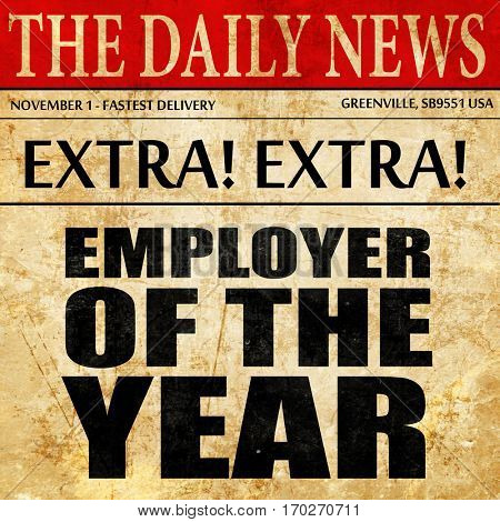 employer of the year, newspaper article text
