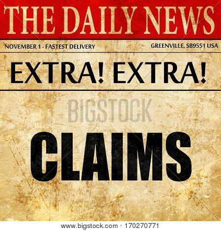 claims, newspaper article text
