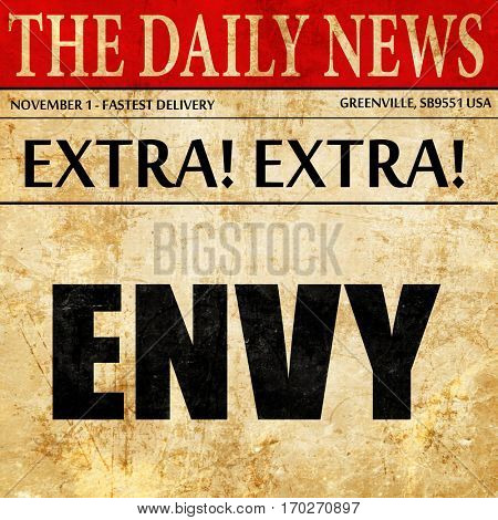 envy, newspaper article text