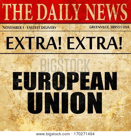 european union, newspaper article text