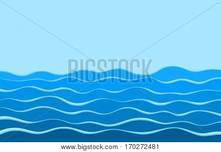 The Background with a deep blue sea.