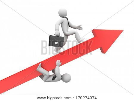 Business race. Advantage. 3d illustration