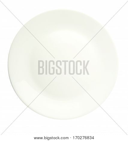 Plate Isolated On A White Background. Plate Top View .white Plate