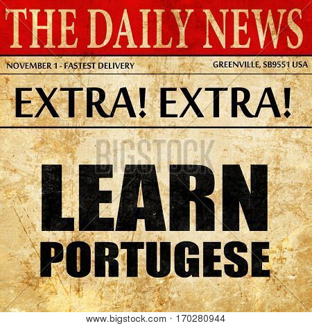 learn portugese, newspaper article text