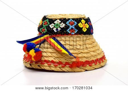 Clop Maramures Traditional hat on white background