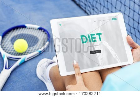Balance Diet Fitness Healthy Food Life Concept