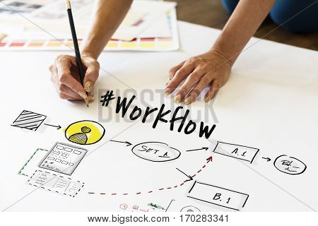 Work flow Progress Project Plan Icon