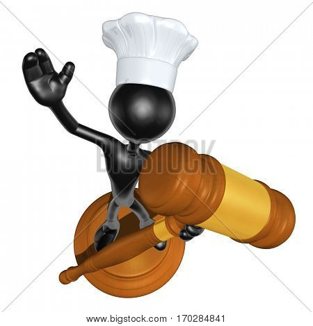 Law Concept With The Original 3D Character Illustration Chef