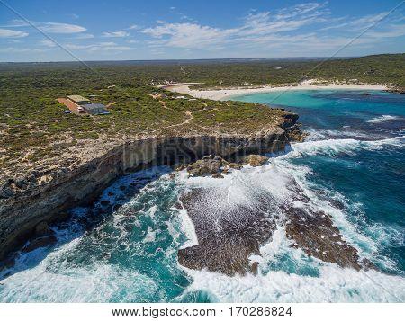 Aerial View Of Kangaroo Island Beautiful Rugged Coastline.