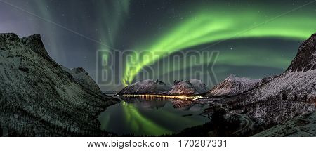 the northern lights in the north Norway