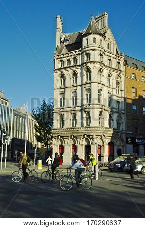 View Of The Streets Of Dublin In Spring Time
