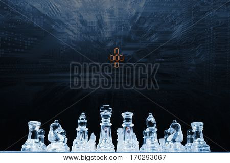 computerized game of chess and  computers motherboard