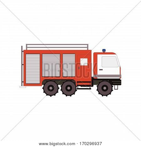 Firetruck for game, ui, app on a white background. Vector illustration eps10