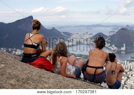 View of two brother mountain, Rio de Janeiro