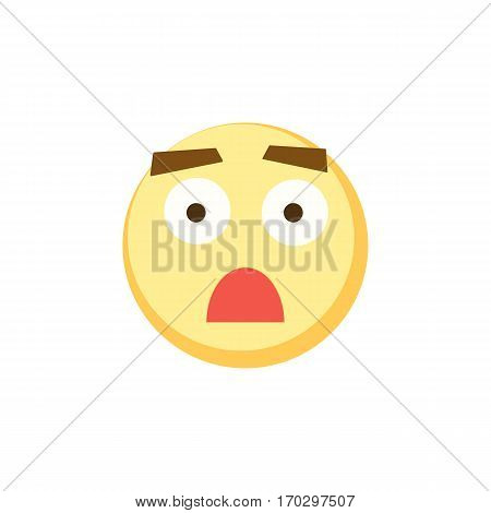 Yellow emoji icon for app game, ui or web design template. Vector emotion sign face