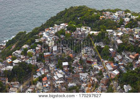 Favela Vidigal Rio de Janeiro, Brazil