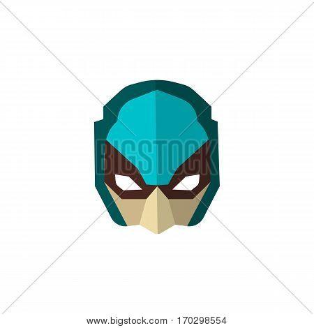 Set of super hero masks in flat style. Big collection cartoon superhero. Vector eps10