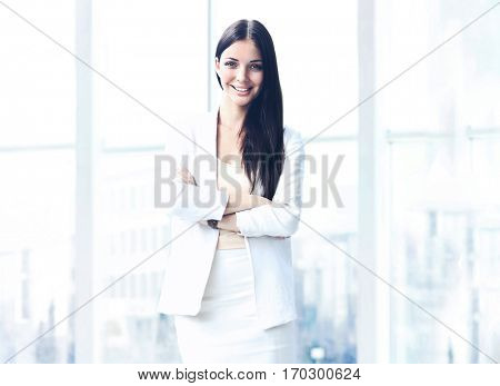 Beautiful businesswoman portrait at office