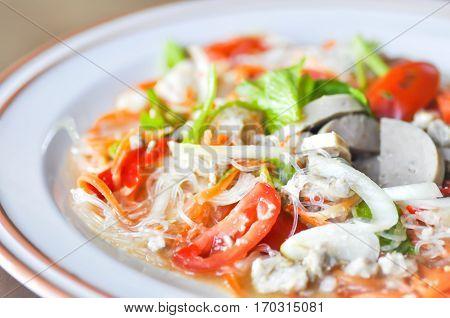 spicy salad or Thai saladsalad ,  salad