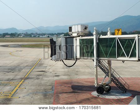Terminal Boarding Gate Or Jetway At The Airport
