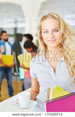 Young woman as business trainee in start-up